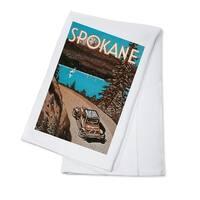 Spokane, Washington - Vintage Advertisement (100% Cotton Towel Absorbent)