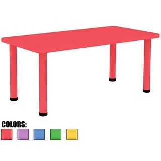 "2xhome - Red - Kids Table - Height Adjustable 21.5"" - 22.5 Table"