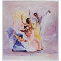 ''Bouquet'' by Lavarne Ross African American Art Print (26.5 x 25 in.)