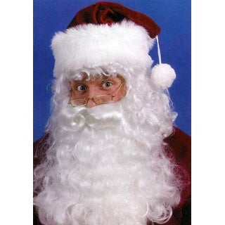 Santa Claus Costume Accessory Set - Beard, Wig & Eyebrows