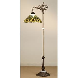 Meyda tiffany floor lamps for less overstock meyda tiffany 65834 stained glass tiffany floor lamp from the wild sunflowers collection aloadofball Gallery