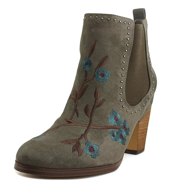 Crown Vintage Khlowi Women Round Toe Canvas Gray Ankle Boot