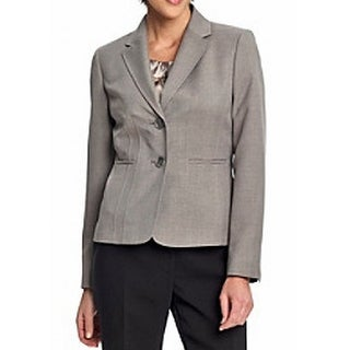 Kasper NEW Pearl Gray Women's Size 6 Two-Button Notch-Collar Blazer