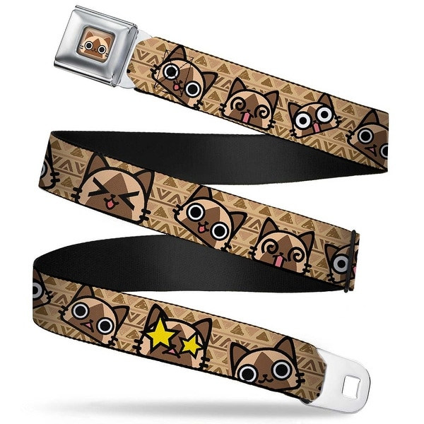 Airou Face Full Color Brown Tan Fade Airou Expressions Tribal Browns Seatbelt Belt