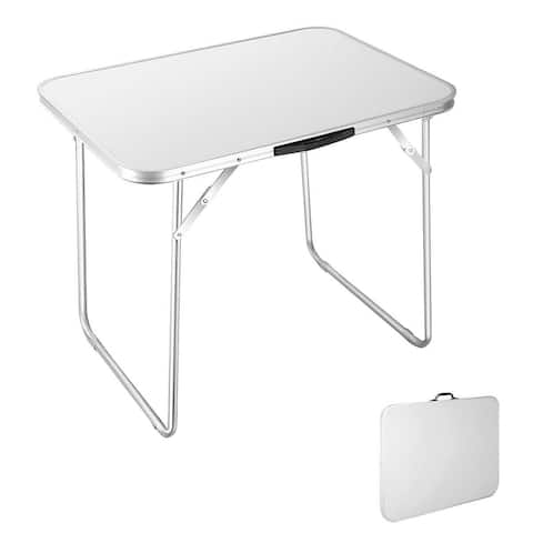 "Portable Folding Aluminum Table In/Outdoor Picnic Party Dining Camping - 31'' L X 23'' W X 26"" H"