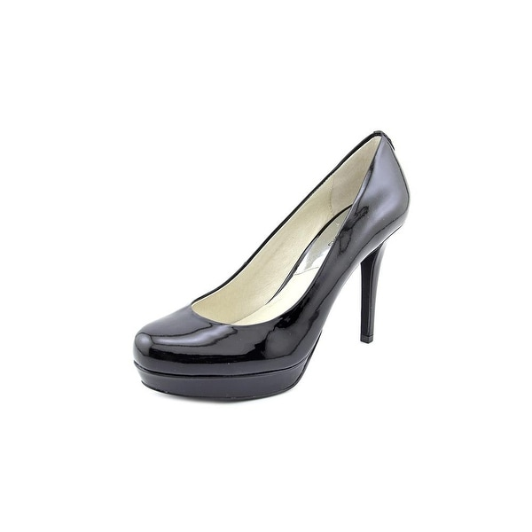 Michael Michael Kors Ionna Pump Women Round Toe Patent Leather Black Heels
