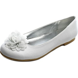 Nina Kids Delta T Round Toe Synthetic Ballet Flats