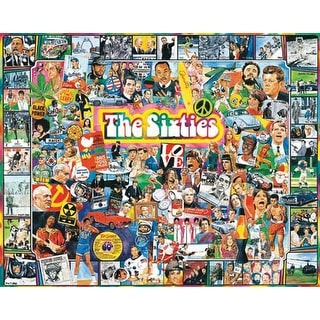 "Jigsaw Puzzle Ultimate Trivia 1000 Pieces 24""X30""-The Sixties"