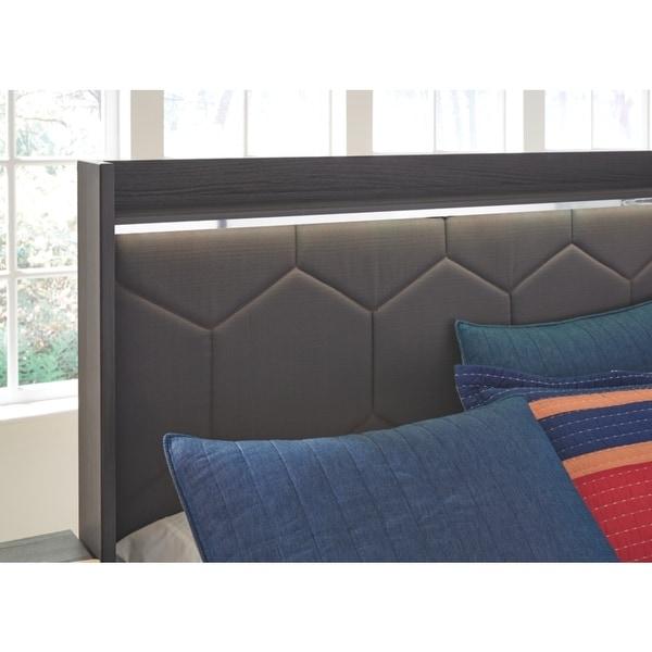 Ashley Furniture B132-87 Gray Finish Annikus Full UPH Panel Headboard Only