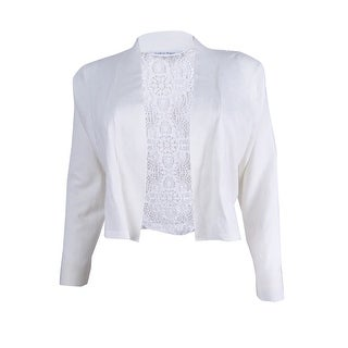 Calvin Klein Women's Lace Back Shrug - White (3 options available)