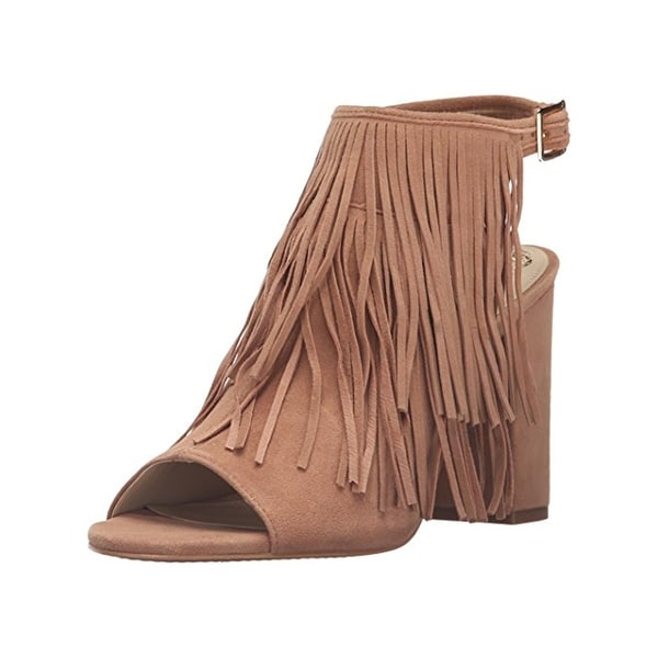 Vince Camuto Womens Winiveer Ankle Boots Open Toe Fringe - 9.5 medium (b,m)