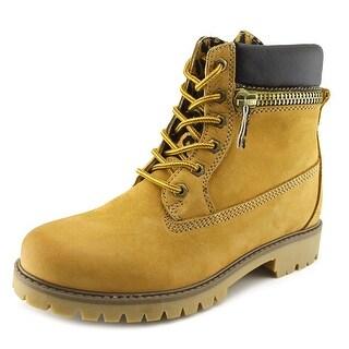 Bronx Yippy Zippy Women Round Toe Leather Boot