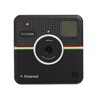 Polaroid Custom Designed Front Sticker for Polaroid Socialmatic - Glossy Carbon Fiber Look