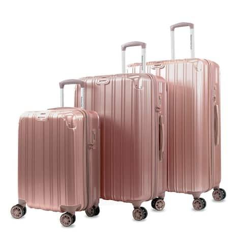 AGT Melrose S 3-Piece Anti-theft TSA Spinner Luggage Set