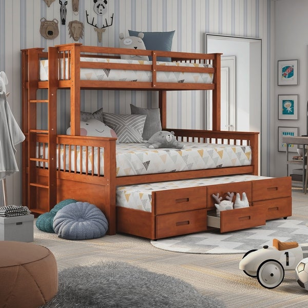 Furniture of America Rola Mission Twin Xl/Queen Bunk Bed. Opens flyout.