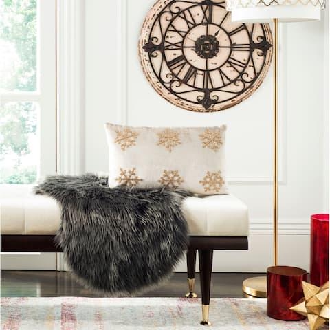 SAFAVIEH Holiday Sydnee Snowflake 12 x 20-inch Decorative Pillow