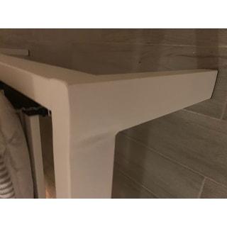 California King size Heavy Duty Bed Frame Steel Slat Platform Series Titan E - White