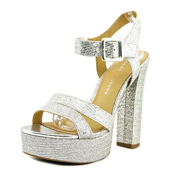 Chinese Laundry Allspice Women Open Toe Synthetic Silver Platform Sandal