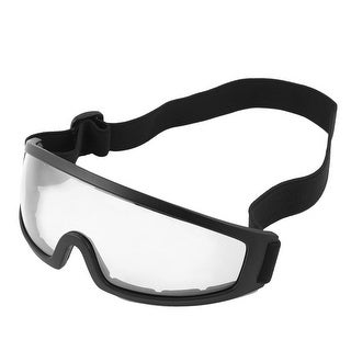 Unisex Cycling Stretchy Band Plastic Frame Clear Lens Goggles