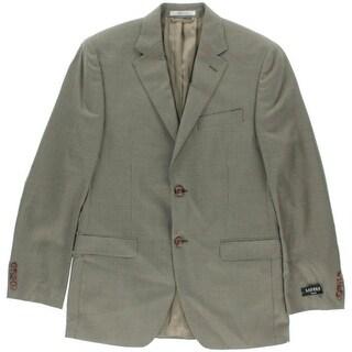 Lauren Ralph Lauren Mens Plaid Notch Collar Sportcoat - 38R