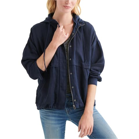 Lucky Brand Womens Hooded Jacket, blue, X-Small