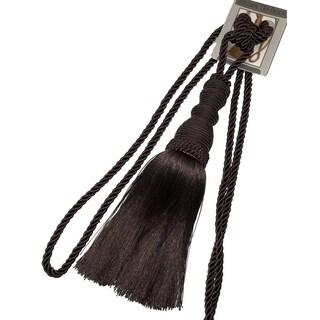 Single Decorative Rope Tassel Tie Back, 10 Inch Tassel, 36 Inch Spread