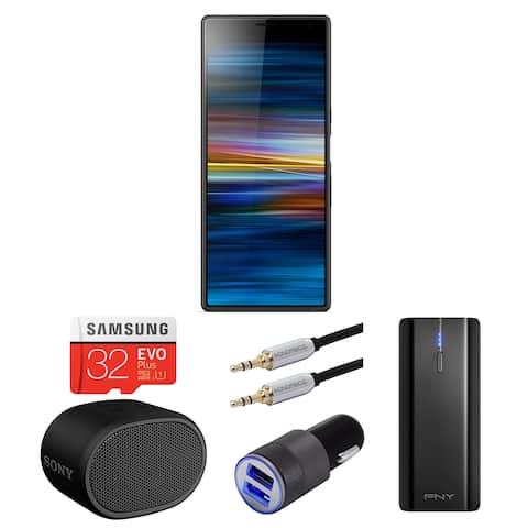 Sony Xperia 10 Plus 6.5 inch Unlocked Smartphone (64GB,Black) Bundle - Black