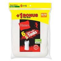 Hanes Boys' TAGLESS® ComfortSoft® A-Shirt 6-Pack (Includes 1 Free Bonus A-Shirt) - Size - S - Color - White