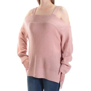 SANCTUARY Womens New 1007 Pink Cut Out Square Neck Long Sleeve Sweater M B+B