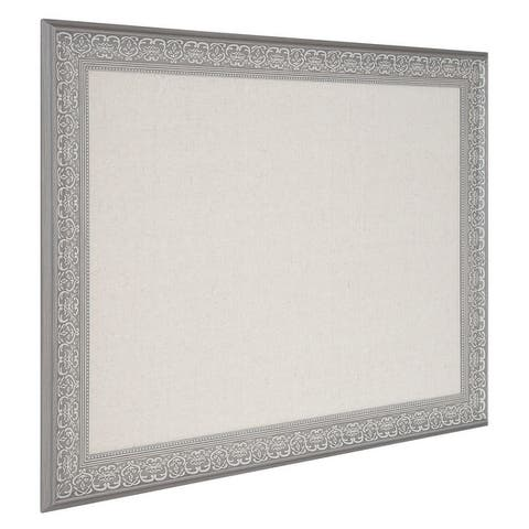 Kate and Laurel Alysia Framed Linen Fabric Pinboard