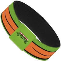 Classic Tmnt Michelangelo Eyes Close Up Green Orange Elastic Bracelet