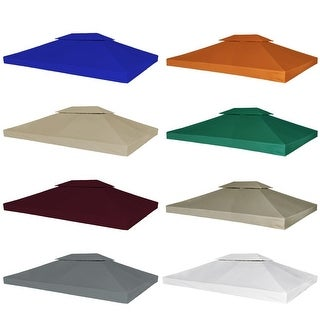 "Link to vidaXL 2-Tier Gazebo Top Cover 0.68lb/m² 157.5""x118.1"" 4 colors Similar Items in Gazebos & Pergolas"