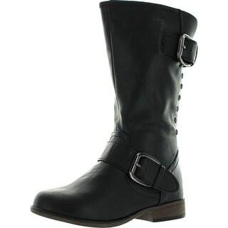 Link Legend-24K Girls Two Buckle Zipper Back Boots (Toddler/Little Kid/Big Kid)