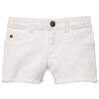 Carter's Little Girls' Sweet Sunshine Girl's Stretch Twill Shorts White 2t