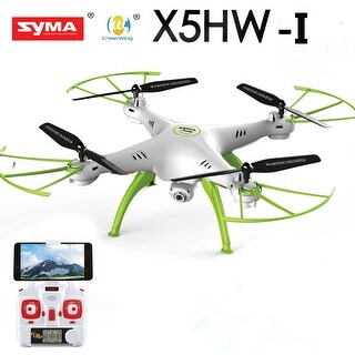 Syma X5HW-I FPV 4CH RC Quadcopter Drone with HD Wifi Camera Hover Function White/Blue - N/A