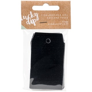 """Lucky Dip Chalkboard Tags 12/Pkg-1.5""""X2.75"""" Square"""