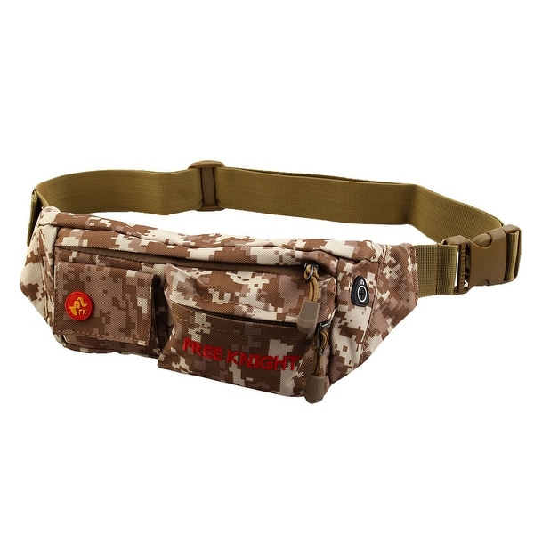 FreeKnight Authorized Running Jogging Sports Pouch Waist Bag Camouflage Khaki