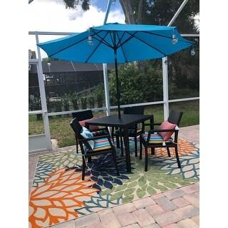Rhode Island Outdoor 5-piece Wicker Rectangular Dining Set by Christopher Knight Home