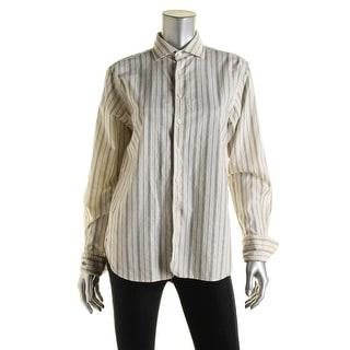 Polo Ralph Lauren Womens Cotton Striped Button-Down Top