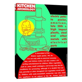 """PTM Images 9-105216  PTM Canvas Collection 10"""" x 8"""" - """"Kitchen Archeology - Electric Potato Peeler"""" Giclee Kitchen Art Print on"""