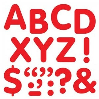Stick-Eze 2 in. Letters & Marks, Red - Pack of 6