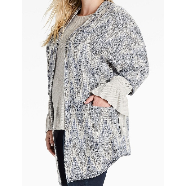 Shop Lucky Brand Womens Plus Cardigan Shimmer Sweater Free