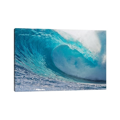 """iCanvas """"Plunging Waves II, Sout Pacific Ocean, Tahiti, French Polynesia"""" by Panoramic Images Canvas Print"""