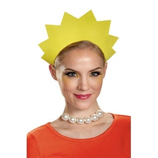 Disguise Lisa Headband and Necklace - Yellow