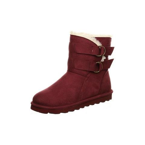 "Bearpaw Casual Boots Womens 6 1/2"" Aloe Vegan NeverWet"
