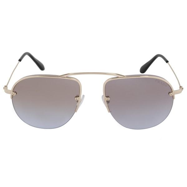eb36c0c85 Prada Teddy Pilot Sunglasses PR58OS ZVN2H2 55 | Gold Frame | Mauve Mirrored  Gradient Lenses