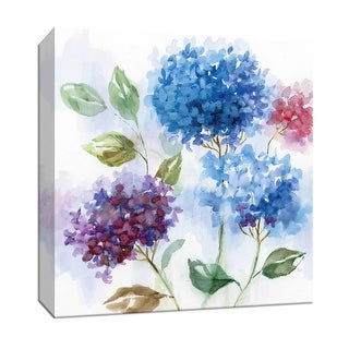 """PTM Images 9-147300  PTM Canvas Collection 12"""" x 12"""" - """"Hydrangea Harmony I"""" Giclee Flowers Art Print on Canvas"""