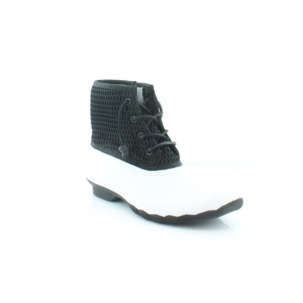 Sperry Top-Sider Saltwater Women's Boots WHT/BLK HONYCMB - 8.5