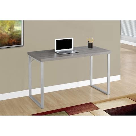 Monarch 7155 Dark Taupe Silver Metal 48nch Computer Desk
