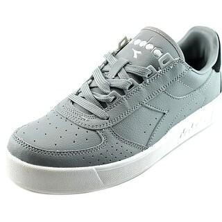 Diadora B. Elite P.L. Men Round Toe Leather Gray Sneakers